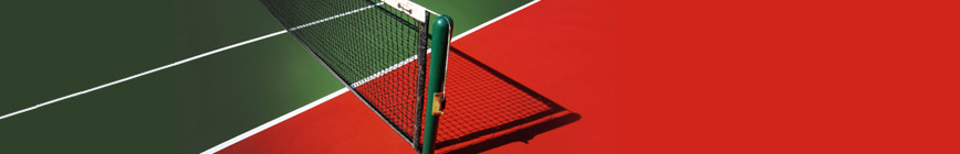 Tennis nets and poles