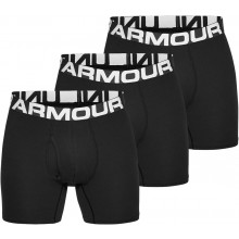 """PACK OF 3 UNDER AMOUR CHARGED COTTON 6"""" BOXERS"""