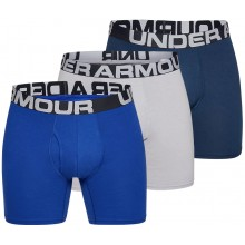 """PACK OF 3 UNDER ARMOUR CHARGED COTTON 6"""" BOXERS"""