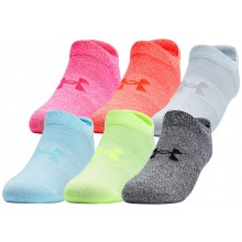WOMEN'S 6 PAIRS OF UNDER ARMOUR ESSENTIAL NO SHOW SOCKS