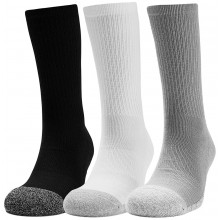 3 PAIRS OF UNDER AMOUR HEATGEAR CREW SOCKS