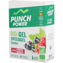BOX OF 6 PUNCH POWER SPEEDGEL BERRIES GELS