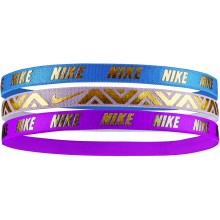 3 PIECE ASSORTMENT OF JUNIORS NIKE METALLIC  ELASTIC HAIRBANDS