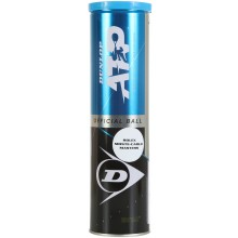 TUBE OF 4 DUNLOP ATP CLAY COURT ATP MONTE CARLO BALLS