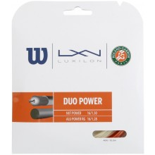 WILSON DUO POWER ROLAND GARROS : LUXILON ALU POWER & WILSON NXT POWER 1.25 (12.20 METERS) STRING PACK