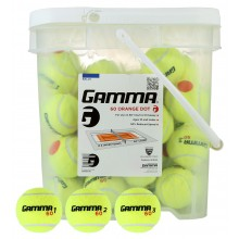 BUCKET OF 48 GAMMA ORANGE DOT (STAGE 2) TENNIS BALLS
