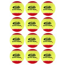 PACK OF 12 GAMMA QUICK KIDS STAGE 3 TENNIS BALLS