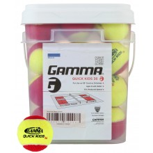 PACK OF 36 GAMMA QUICK KIDS STAGE 3 TENNIS BALLS