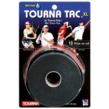 10 TOURNA TAC XL BLACK OVERGRIPS