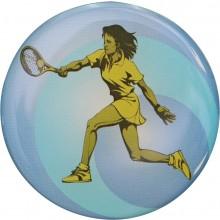 PLASTIC DESIGN FOR A TENNIS MEDAL - 1 WOMEN (COLOUR - 25MM)