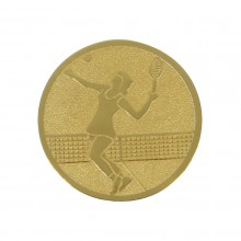 WOMEN'S TENNIS MEDAL (ALU - 25MM) WITH DESIGN