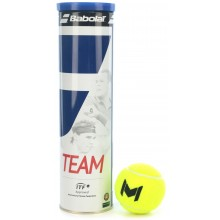 CAN OF 4 BABOLAT TEAM MOURATOGLOU BALLS