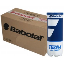 CASE OF 24 CANS OF 3 BABOLAT TEAM ALL COURT BALLS
