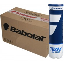 CASE OF 18 CANS OF 4 BABOLAT TEAM ALL COURT BALLS