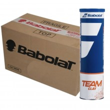 CASE OF 18 CANS OF 4 BABOLAT TEAM CLAY BALLS