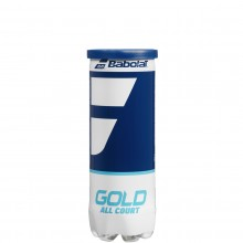 TUBE OF 3 BABOLAT GOLD ALL COURT BALLS