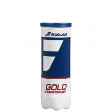 TUBE OF 3 BABOLAT GOLD CHAMPIONSHIP BALLS