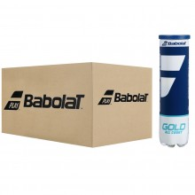 CASE OF 18 TUBES OF 4 BABOLAT GOLD ALL COURT BALLS