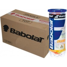 CASE OF 24 CANS OF 3 BABOLAT ORANGE TENNIS BALLS