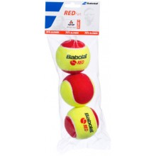 PACK OF 3 BABOLAT RED FELT TENNIS BALLS