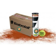 CASE OF 18 CANS OF 4 BABOLAT FRENCH OPEN ALL COURT BALLS