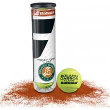 CAN OF 4 BABOLAT FRENCH OPEN ALL COURT BALLS
