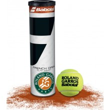 CAN OF 4 BABOLAT FRENCH OPEN CLAY COURT BALLS