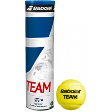 CAN OF 4 BABOLAT TEAM YELLOW BALLS