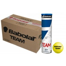 CASE OF 18 CANS OF 4 BABOLAT TEAM YELLOW BALLS