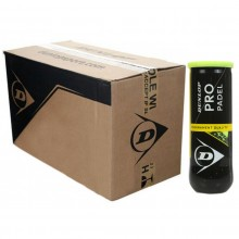 CASE OF 24 CANS OF 3 DUNLOP PRO PADEL BALLS
