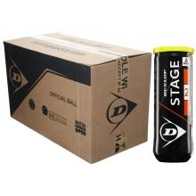 CASE OF 24 CANS OF 3 DUNLOP MINI TENNIS STAGE 2 BALLS