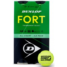 BIPACK OF 4 DUNLOP FORT TOURNAMENT SELECT BALLS