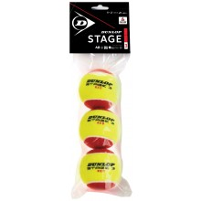 BAG OF 3 DUNLOP MINI TENNIS STAGE 3 BALLS