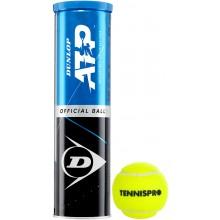 CAN OF 4 DUNLOP ATP (TENNISPRO) BALLS