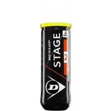 CAN OF 3 DUNLOP MINI TENNIS STAGE 2 BALLS