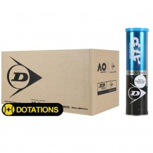CASE OF 18 TUBES OF 4 DUNLOP ATP CLAY COURT MONTE CARLO BALLS