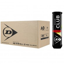 CASE OF 18 TUBES OF 4 DUNLOP CLUB ALL COURT BALLS