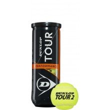 CAN OF 3 DUNLOP TOUR PERFORMANCE BALLS