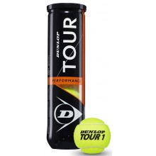 CAN OF 4 DUNLOP TOUR PERFORMANCE BALLS