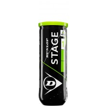 CAN OF 3 DUNLOP EASY TENNIS STAGE 1 BALLS
