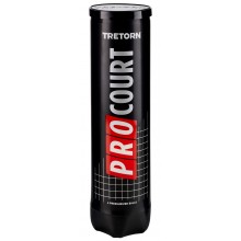 CAN OF 4 TRETORN PRO COURT BALLS