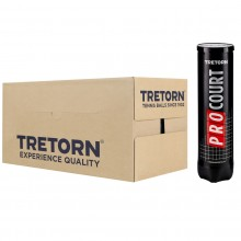 CASE OF 18 CANS OF 4 TRETORN PRO COURT BALLS