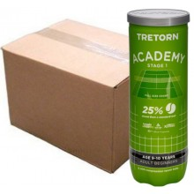 CASE OF 24 CANS OF 3 TRETORN ACADEMY STAGE 1 BALLS