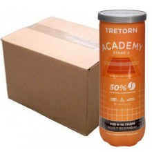 CASE OF 24 CANS OF 3 TRETORN ACADEMY STAGE 2 BALLS