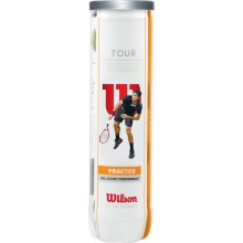 CAN OF 4 WILSON TOUR PRACTICE BALLS