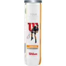 CAN OF 4 WILSON TOUR PRACTICE BALLS
