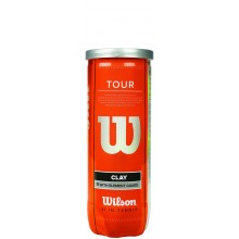 CAN OF 3 WILSON TOUR CLAY TENNIS BALLS