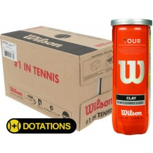 CASE OF 24 CANS OF 3 WILSON TOUR CLAY TENNIS BALLS