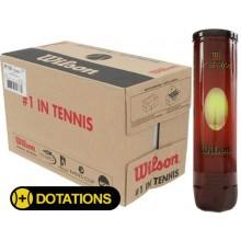 CASE OF 18 CANS OF 4 WILSON TEAM PRACTICE TENNIS BALLS