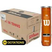 CASE OF 18 CANS OF 4 WILSON TOUR CLAY TENNIS BALLS